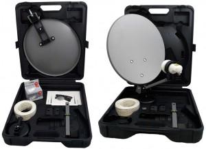 Koffer Sat-Antenne für Camping, Schrebergarten und Lkw