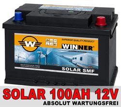 Wohnmobil Solaranlage speichert Energie in Solarbatterie als Bordbatterie