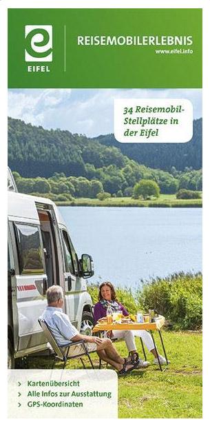 Kartenübersicht und GPS Koordinaten von Wohnmobil Stellplätze in der Eifel