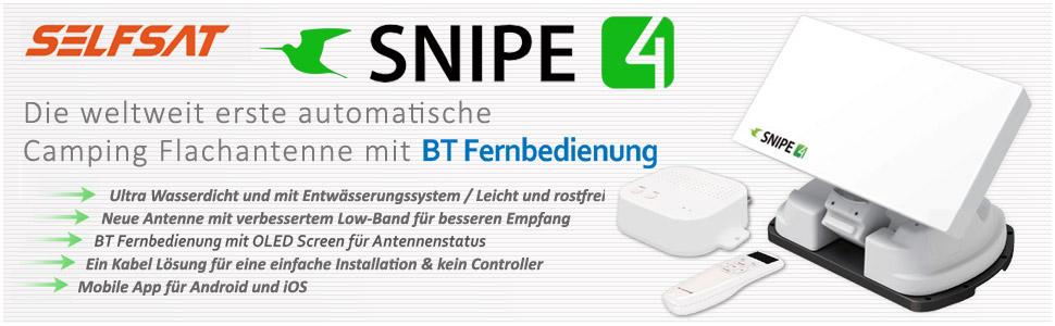 NEUHEIT: Vorstellung SELFSAT SNIPE 4 mit Bluetooth Fernbedienung und Smartphone App